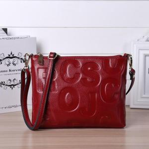 Wmnuo Brand Bag Women Genuine Leather Shoulder Bag Women Soft Cowhide Personality Letter Embossing Ladies Evening Crossbody Bag