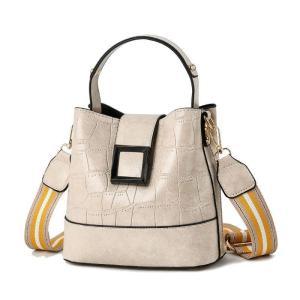 Kajie Fashion Simple Luxury Handbags Women Bags Designer Handbag Bucket Bag PU Stone Pattern Bucket Bag Shoulder Messenger Bag