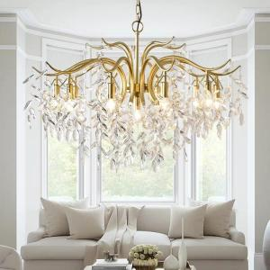 TRAZOS Modern Led Chandelier Gold Circle Ceiling mounted LED Chandelier Lighting For Living room Dining room Kitchen
