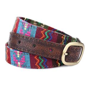 Retro Ladies Belts Ethnic Style Embroidery Fashion Korean Style PU Leather 82-92CM All-match Jeans Accessories Waist Belts
