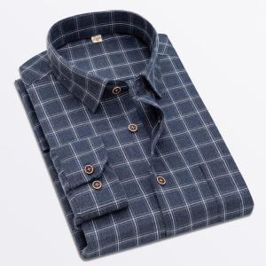 Plus Size Men's Shirt Fashion Slim Shirt Long Sleeve Cotton Shirt Solid Color Shirt Formal shirts for men