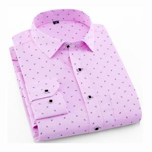 Men's Long Sleeve Print Plaid Shirt Spring Summer Slim Fit Dress Shirts Brand Male Clothing M-5XL