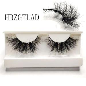 25mm Mink False Eyelashes 3D Full Strip Natural Mink Eyelash 25mm Long Handmade Wholesale Makeup Tools Lash Extension