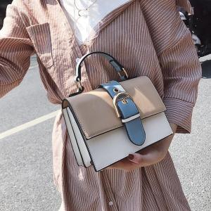 Designer Women's Handbag 2019 Fashion New High Quality PU Leather Women Bag Contrast Lady Tote Shoulder Messenger Bag Crossbody