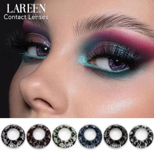 LAREEN 2pcs/pair Colored Contact Lenses Eye Natural Bright Cosmetic Colorful Cosmetic Contact Lens For Eyes lentes de contacto