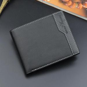 Men's Bifold pu Leather Wallets Credit ID Card Holder Wallet Masculina Billetera Hombre Men  Short Purse Male Money Portafoglio