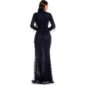 Sexy See through Maxi Club woman Autumn Summer sequin dress women party night glitter bodycon vintage long dress ladies dresses