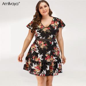 Amtivaya Sexy Party Plus Size Plus Size Dresses Plus Size Women Clothing Seethrough Sexy Club Dresses Beach Dress Summer Dresses