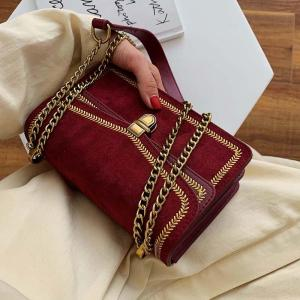 Scrub Leather Crossbody Bags For Women 2019 Chain Shoulder Messenger Bag Lady Travel Luxury Handbags and Purses