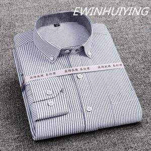 Men Long Sleeve Oxford Spinning Shirt Hot Sale High Quality Fabric Casual Top Fashion Classic Business Style Youth Plaid Shirt