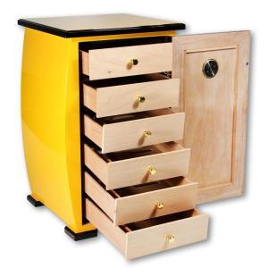 High-end Cedar Wood Piano Finish Cigar Humidor Case Cabinet Storage Box 6-Storey W/Lock & Humidifier Hygrometer For COHIBA