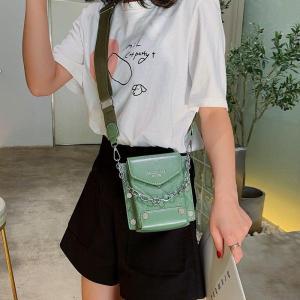 Small bucket quilted women bags fashion Rivet chain messenger sac a main leather shoulder crossbody handbag bolsa feminina