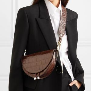 Alligator Crossbody Bags for Women Half Circle Cover Shell Bag Solid Pu Leather Luxury Handbag Ladies Designer Shoulder Bag