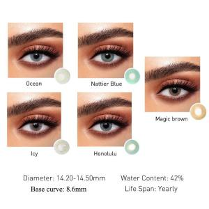 2pcs Cherry Series Colored Contact Lenses Eye Natural Contact Lenses Color Contact Lens for Eye lentes de contacto UYAAI