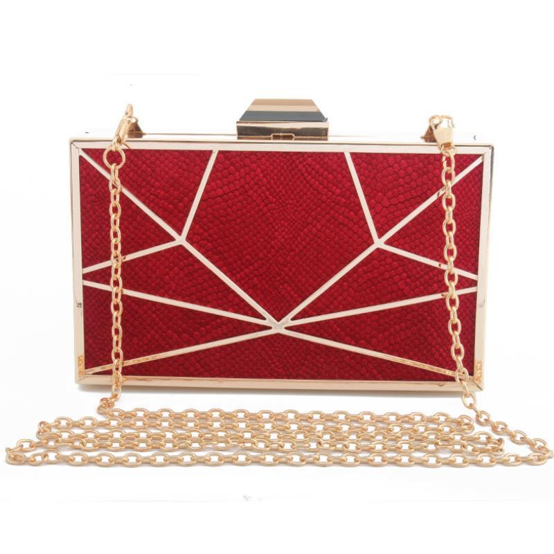 Black Clutch Purse Geometric evening bags women clutch bag party purse and handbag chains shoulder bags flap handbags ZD965