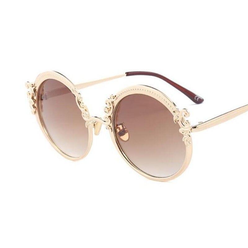 Round Vintage Designer Fashion Sunglasses Gradient Lens Summer Shades Luxury Brand Gradient Glasses 2019 women new retro Goggle