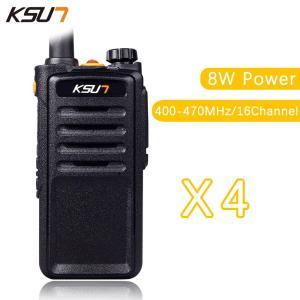 (4 PCS)Black Walkie Talkie UHF 400-470 MHz MINI-Handheld Transceiver Two Way Ham Radio Communicator