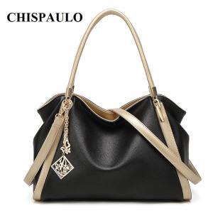 CHISPAULO Brand Designer Handbags High Quality Genuine Leather Bags For Women Messenger Bags Fashion Women's Shoulder Bags T580