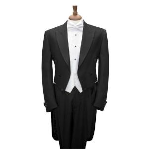 Custom Made To Measure BLACK TAILCOAT WITH WHITE VEST,,BESPOKE long tail BLACK tuxedo tailcoat,TAILORED MEN SUITS