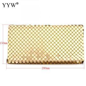 Luxury Gold Sequin Clutch Bags Leather Evening Bags New Long Chain Shoulder Handbag Fashion Party Purse Wedding Bolsa Feminina