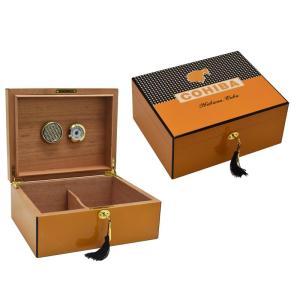 Cohiba humidor  box High Glossy 50~75 CT Cigar Humidor Cigar Box With Hygrometer puros habanos