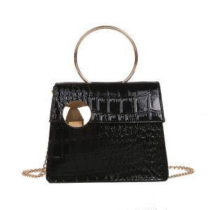 Women Bag Stone Pattern Messenger Fashion Patent Leather Chain bolsa feminina sac a main femme de marque soldes torebki damskie