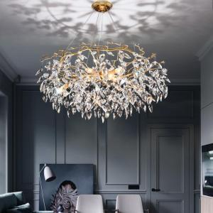 Chandelier lustre crystal lamp gold branch lamp lamparas modernas salones hotel grandes modern led chandelier