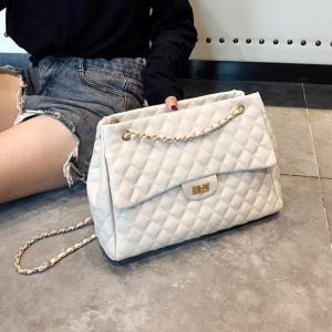 2018 PU Leather Handbags Women's Designer Handbag The Big Women's Lattice Lock Shopping Bag Large Handbags Tote Shoulder Bags