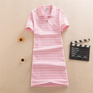 New Fashion Slim Striped Print Polo Party T Shirt Mini Short Dress Casual Summer Women Vestido De Festa Elegant Cotton Vestidos