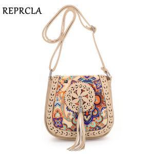 REPRCLA National Style Women Bag Brand Designer Handbag Tassel Crossbody Shoulder Bags Ladies Purse Bolsa