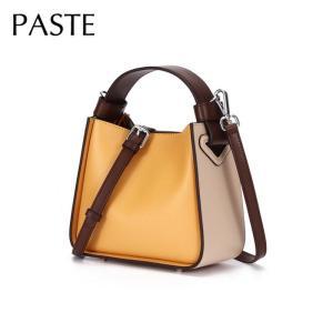 Summer Fresh Hit Color Natural Leather Women's Hnadbags Small Luxury Brand Design Bucket Bag Female Shoulder Messenger Bag