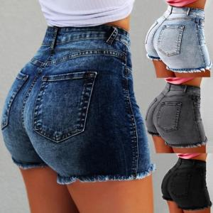 Shorts Women Jean Denim Short Straight Women High Waist Tassel Summer Shorts Femme Push Up Skinny Slim Denim Short