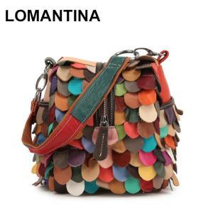 Sheepskin Women Messenger Bags Genuine Leather Women's Shoulder Bag Ladies Girls Colorful Small Square Handbags