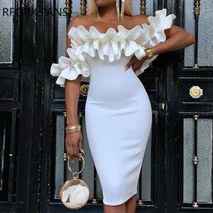 Off Shoulder Ruched Design Bodycon Dress