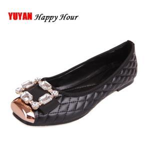Spring and Autumn Ballet Flats Women Elegant Brand Shoes Diamond Design Women's Flats Luxury Plus Size 35-42 Free Shipping
