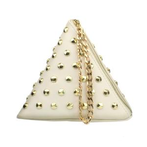 Triangle Mini Riveting Day Clutches Fashion Personality PU Leather Small Casual Bag Purse Travel Bags For Women Evening Bags