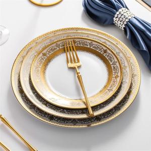 Luxury Porcelain Tableware Ceramic Dinnerware Creative Steak plates Dessert Tray Kitchen Dishes And Plates 10.5/9/7.5 inches