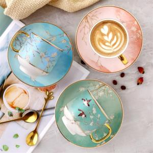 New Chinese style Cups And Saucers Set Countryside Ceramic Coffee cup Porcelain Tea Cup afternoon tea home decor accessories