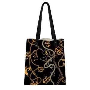 Customized European Pattern Print Women Shoulder Bag Soft PU Leather Handle Bags Ladies Tassel Tote Handbag Women's Handbag