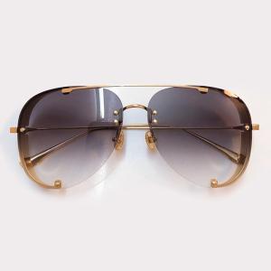 Hot Fashion Pilot Protection Sun Glasses Metal Fishing Outdoor Shade Gradient UV400 Lens óculos de sol feminino With Brand Box