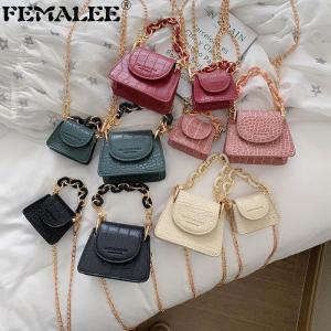 Luxury Brand Crossbody Bags For Women Crocodile Pattern Bags Summer Mini Designer Handbags Acrylic Chains Female Messenger Bags