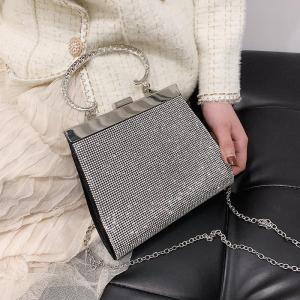 Designer Brand Luxury Women Bag 2020 Glitter Crystal Handbags Fashion Red Wedding Clutches Bridal Bag Cute Small Crossbody Bags