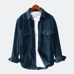 Men Shirts 2021 Spring Autumn Fashion Brand Japan Style Slim Fit Vintage Corduroy Shirt Male Casual Loose Long Sleeve Shirt Tops