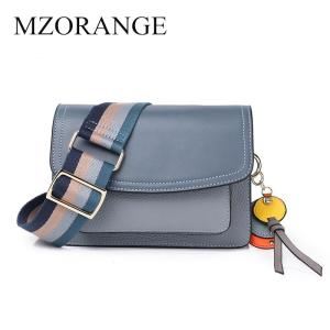 Genuine leather Women Shoulder Bags Luxury Designers 2019 Ladies Messenger Bag Crossbody Bags For Women With Wide Shoulder Strap