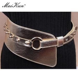 Maikun belt women punk fashion personality studs Faux leather belts for women decorative waistband belt