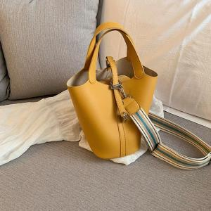 2019new fashion European and American style trend versatile basket bucket bag single shoulder diagonal span versatile female bag