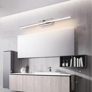 L400/600/800/1000mm Nordic led mirror light aluminum bathroom lamp bedroom cosmestic lighting Chrome/Gold Finished AC90-260V