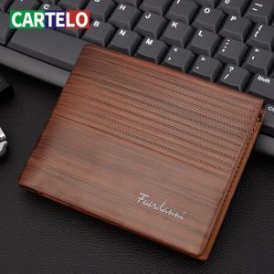 CARTELO Purse For Boy Use Vintage Purses Wallets Men Walet Leather Men Wallet Money Bag Credit Card Holders Dollar Bill Wallet