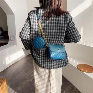 2pcs Solid Color PU Leather Crossbody Bags For Women 2019 Designer Female Shoulder Messenger Bag Lady Travel Handbags and Purses