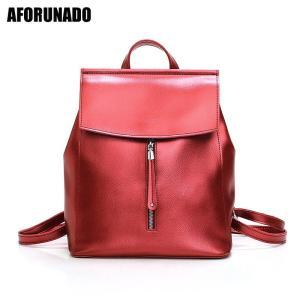 2019 New Fashion Zipper Women Backpack High Quality Oil Skin Leather Backpack Girls Shopping Travel School Elegant Backpack